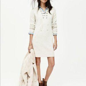 Madewell Marino Wool Sweater Lace Up Dress XS